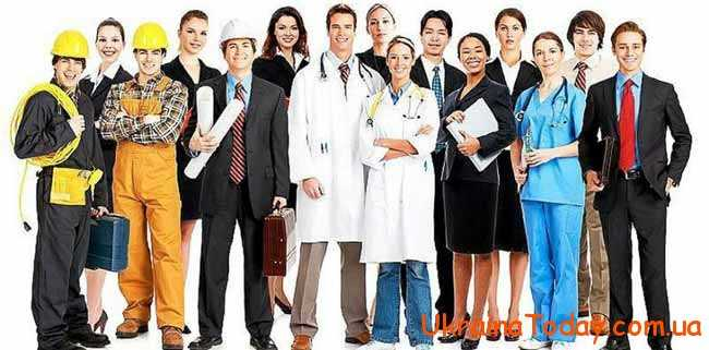 такі поняття як професія, спеціалізація, робота, кваліфікація, рівень освіти