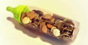 гроші в пляшечці