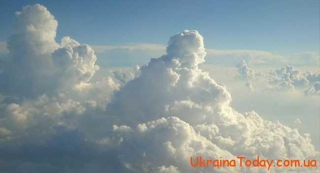 пухкі білі хмаринки
