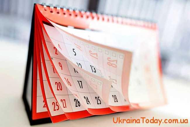 Основні відомості цього виду календаря