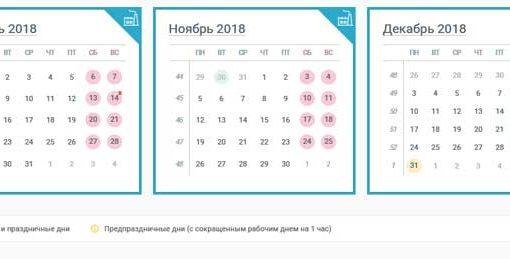 Вихідні та святкові дні у листопаді 2018 року в Україні