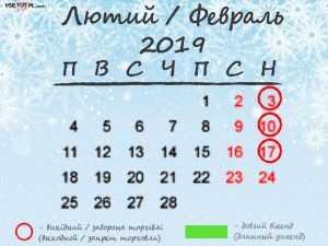 лютий 2019 рік
